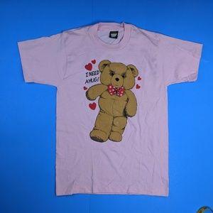 Vintage Screen Stars Best Teddy Bear Shirt Medium